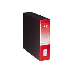 Boîte à archive Rexel Dox Box 9 - Classeur à levier - 80 mm - rouge
