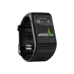 Smartwatch Garmin vívoactive HR - Noir - montre intelligente avec bande - noir - Standard - Bluetooth, ANT/ANT+ - 47.6 g