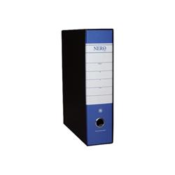Boîte à archive Brefiocart NERO& - Classeur à levier - 80 mm - 285 x 350 mm - blue with black slipcase