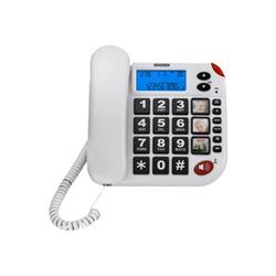 Téléphone fixe Brondi SUPER BRAVO LCD - Téléphone filaire avec ID d'appelant - blanc