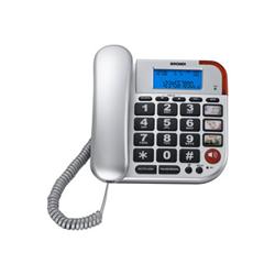 Téléphone fixe Brondi BRAVO 50 LCD - Téléphone filaire avec ID d'appelant - argenté(e)