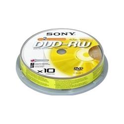 Nastro Sony - Dvd-rw 4x spindle 10 pezzi