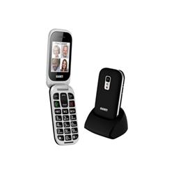 Téléphone portable Saiet CELL.UNICO - Téléphone mobile - microSDHC slot - GSM - TFT - 0,3 MP - noir