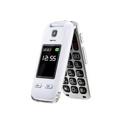 Téléphone portable Saiet LUMINA+ - Téléphone mobile - double SIM - microSDHC slot - GSM - 320 x 240 pixels - TFT - 0,3 MP - blanc