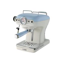 """Expresso et cafetière Ariete 1389 Vintage - Machine à café avec buse vapeur """"Cappuccino"""" - 15 bar - bleu clair"""