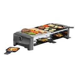 Princess Raclette 8 Stone Grill Party - Raclette/grill/pierre à griller - 1400 Watt - noir