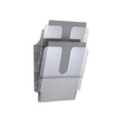 Porte-brochures DURABLE FLEXIPLUS - Porte-document - montable au mur - 2 pochettes - pour A4 - transparent