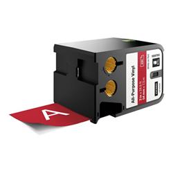 Ruban DYMO XTL - Étiquettes - vinyle - blanc sur rouge - Rouleau (5,4 cm x 7,5 m) 1 rouleau(x) - pour XTL 500