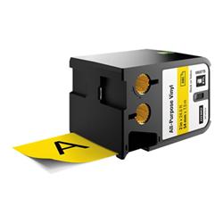 Ruban DYMO XTL - Ruban - vinyle - adhésif permanent - noir sur jaune - Rouleau (5,4 mm x 7 m) 1 rouleau(x) - pour XTL 500