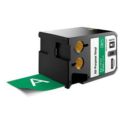 Ruban DYMO XTL - Étiquettes - vinyle - blanc sur vert - Rouleau (5,4 cm x 7,5 m) 1 rouleau(x) - pour XTL 500