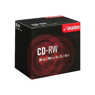 Imation - CD-RW 4-10X JEWEL CASE 700MB CONF10