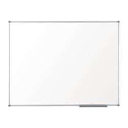 Tableau Nobo Basic - Tableau blanc - montable au mur - 1800 x 1200 mm - mélamine - non magnétique - blanc - cadre aluminium
