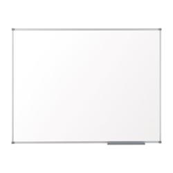 Tableau Nobo Basic - Tableau blanc - montable au mur - 1800 x 1200 mm - acier peint - magnétique - blanc - cadre argent