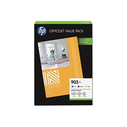 Papier HP 903XL Office Value Pack - Pack de 3 - à rendement élevé - couleur (cyan, magenta, jaune) - originale - cartouche d'encre - pour Officejet 6950, 6954, 6962; Officejet Pro 6960, 6970, 6975