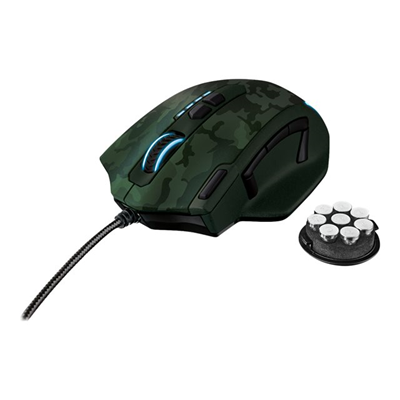 Trust - GXT 155C GAMING MOUSE GREEN CAMOUFL
