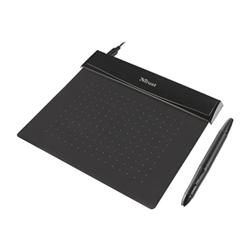 Tablette graphique Trust Flex Design Tablet - Numériseur - 14 x 10 cm - filaire - USB - noir