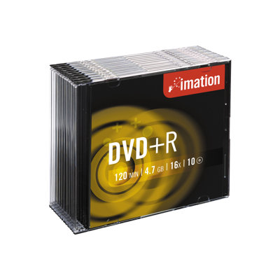 Imation - =>>DVD+R 16X 4.7 GB SLIM CONF.10 PZ