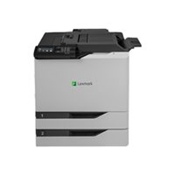 Imprimante laser Lexmark CS820dtfe - Imprimante - couleur - Recto-verso - laser - A4/Legal - 1200 x 1200 ppp - jusqu'� 57 ppm (mono) / jusqu'� 57 ppm (couleur) - capacit� : 1200 feuilles - USB 2.0, Gigabit LAN, h�te USB 2.0
