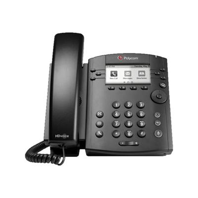 Polycom - VVX 300 6-LINE DESKTOP PHONE WITH