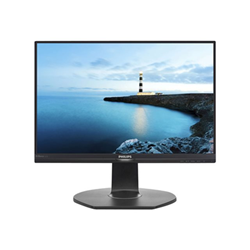 "Écran LED Philips Brilliance B-line 221B7QPJEB - Écran LED - 22"" (21.5"" visualisable) - 1920 x 1080 Full HD (1080p) - IPS - 250 cd/m² - 1000:1 - 5 ms - HDMI, VGA, DisplayPort - haut-parleurs - noir texturé"