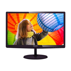 "Écran LED Philips E-line 227E6LDSD - Écran LED - 21.5"" - 1920 x 1080 Full HD (1080p) - 250 cd/m² - 1000:1 - 5 ms - DVI-D, VGA, HDMI (MHL) - noir cerise brillant"