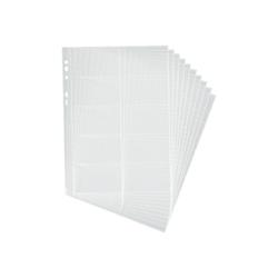 Boîte à archive DURABLE VISIFIX - Pochettes pour classeurs cartes de visite - 54 x 90 mm - pour 20 cartes - transparent (pack de 10) - pour P/N: 2384-11, 2388-07, 2388-21, 2388-58, 2409-01