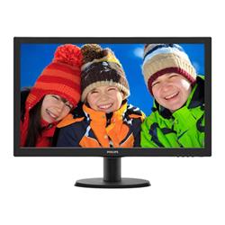 """Écran LED Philips V-line 243V5LSB5 - Écran LED - 24"""" (23.6"""" visualisable) - 1920 x 1080 Full HD (1080p) - 250 cd/m² - 1000:1 - 5 ms - DVI-D, VGA - noir"""