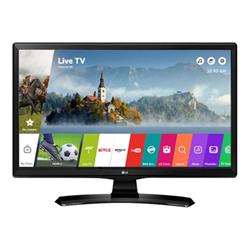 """TV LED LG 28MT49S - Écran LED avec tuner TV - 28"""" (27.5"""" visualisable) - 1366 x 768 FWXGA - IPS - 250 cd/m² - 1000:1 - 8 ms - 2 x HDMI, RCA (composite), RCA (composant) - haut-parleurs - noir brillant avec couvercle noir texturé"""