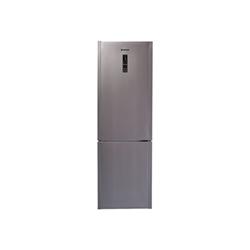Réfrigérateur Hoover HDCN 184AD/1 - Réfrigérateur/congélateur - pose libre - largeur : 60 cm - profondeur : 60 cm - hauteur : 185 cm - 316 litres - congélateur bas - Classe A++ - argenté(e)