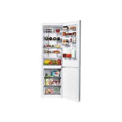 Réfrigérateur Candy CKCN 202IW/1 - Réfrigérateur/congélateur - pose libre - largeur : 60.3 cm - profondeur : 70 cm - hauteur : 195 cm - 340 litres - congélateur bas - classe A+ - inox