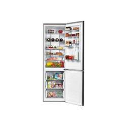 Réfrigérateur Candy CKCN 204IX/1 - Réfrigérateur/congélateur - pose libre - largeur : 60.3 cm - profondeur : 70 cm - hauteur : 195 cm - 340 litres - congélateur bas - Classe A++ - inox