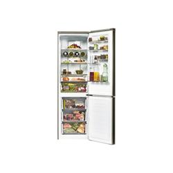 Réfrigérateur Hoover HDCN 204XD / 1 - Réfrigérateur/congélateur - pose libre - largeur : 60 cm - profondeur : 70.7 cm - hauteur : 194 cm - 340 litres - congélateur bas - Classe A++ - inox