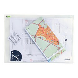 Porte-documents Leitz Complete Traveller L - Valisette à fermeture éclair - 330 x 230 mm - clair