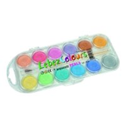 Aquarelles Lebez Colours - Peinture - aquarelle - assorted pearl colors - pack de 12