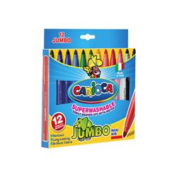 Carioca Jumbo - Marqueur - couleurs assorties - 4 mm - pack de 12