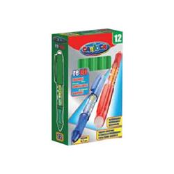 Stylo Carioca Re-Do - Stylo à bille - non permanent - vert - encre thermosensible - 0.7 mm - moyen - avec gomme - pack de 12