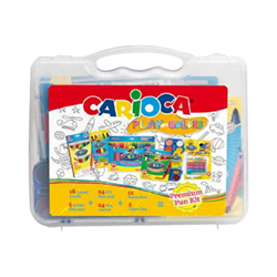Stylo Carioca PLAY WITH COLORS - Colored pencil, crayon, fiber-tip pen and paint set - couleurs assorties