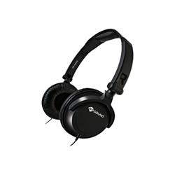 Meliconi MySound Speak SMART FLUO - Casque avec micro - sur-oreille - jack 3,5mm - noir