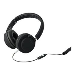 Meliconi MySound Speak PRO - Casque avec micro - sur-oreille - jack 3,5mm - noir