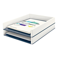 Leitz WOW Dual Colour - Corbeille à courrier - Letter, A4, C4, Folio - blanc