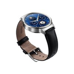 "Smartphone Huawei Watch Classic - 42 mm - acier inoxydable - montre intelligente avec sangle - cuir - noir - 145-200 mm - 1.4"" - 4 Go - Wi-Fi, Bluetooth"