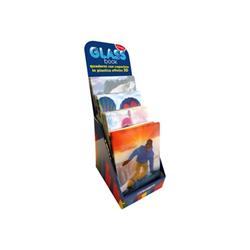 Blasetti Glass Book Dream Maxi - Cahier d'exercice - A4 - 21 feuilles / 42 pages - carré - disponible dans différentes couleurs - polypropylène (PP)