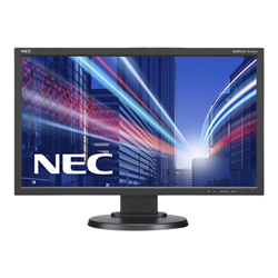 "Écran LED NEC MultiSync E233WM - Écran LED - 23"" - 1920 x 1080 Full HD (1080p) - TN - 250 cd/m² - 1000:1 - 5 ms - DVI-D, VGA, DisplayPort - haut-parleurs - blanc"