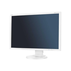 "Écran LED NEC MultiSync E245WMi - Écran LED - 24"" (24"" visualisable) - 1920 x 1200 - IPS - 250 cd/m² - 1000:1 - 6 ms - DVI-D, VGA, DisplayPort - haut-parleurs - blanc"