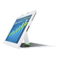 Coque Leitz Complete Privacy Case landscape view - Étui pour tablette - blanc - pour Apple iPad (3ème génération); iPad 2