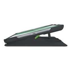 Coque Leitz Complete Multi-Case - Protection à rabat pour tablette - plastique ABS - noir - pour Apple iPad Air