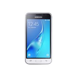"""Smartphone Samsung Galaxy J1 (2016) - SM-J120FN - smartphone - 4G LTE - 8 Go - microSDXC slot - GSM - 4.5"""" - 800 x 480 pixels - Super AMOLED - 5 MP (caméra avant de 2 mégapixels) - Android - blanc"""
