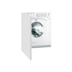 Lave-linge encastrable Hotpoint Ariston AWM 1081 EU - Machine à laver - intégrable - largeur : 59.5 cm - profondeur : 55 cm - hauteur : 82 cm - chargement frontal - 7 kg - 1000 tours/min - blanc