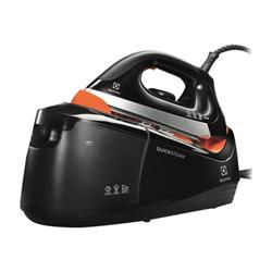 Fer à repasser Electrolux QuickSteam EDBS3340 - Centrale vapeur - semelle : inox - 2350 Watt - noir/orange