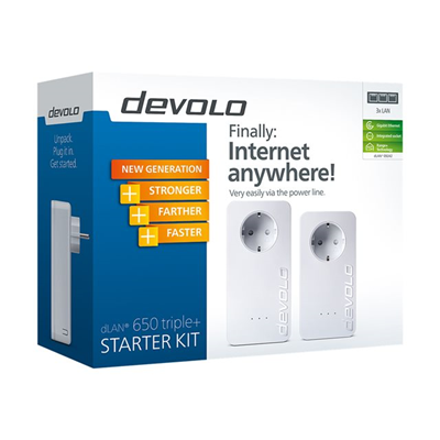 Devolo - DLAN 650 TRIPLE+ STARTER KIT